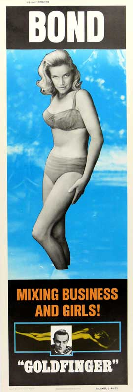 Goldfinger - 14 x 36 Movie Poster - Insert Style D