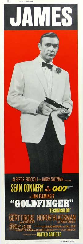 Goldfinger - 14 x 36 Movie Poster - Insert Style E