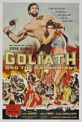 Goliath and the Barbarians - 11 x 17 Movie Poster - Italian Style A