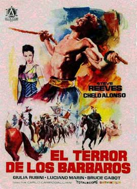 Goliath and the Barbarians - 11 x 17 Movie Poster - Spanish Style A