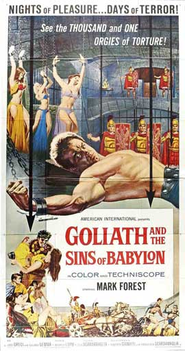 Goliath and the Sins of Babylon - 20 x 40 Movie Poster - Style A