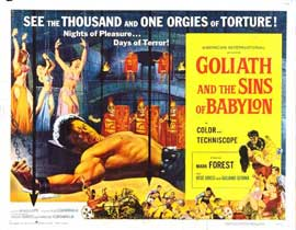 Goliath and the Sins of Babylon - 22 x 28 Movie Poster - Half Sheet Style A