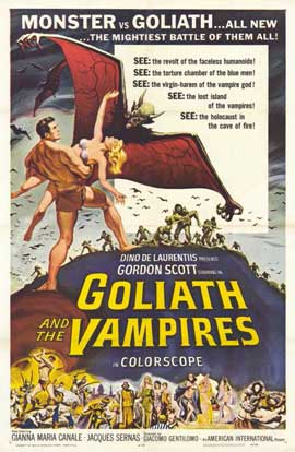 Goliath and the Vampires - 11 x 17 Movie Poster - Style A