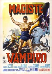 Goliath and the Vampires - 11 x 17 Movie Poster - Italian Style B