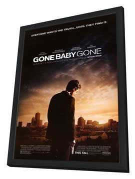 Gone Baby Gone - 27 x 40 Movie Poster - Style A - in Deluxe Wood Frame