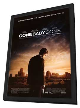Gone Baby Gone - 11 x 17 Movie Poster - Style A - in Deluxe Wood Frame