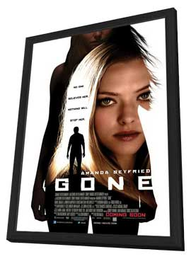 Gone - 27 x 40 Movie Poster - Style A - in Deluxe Wood Frame