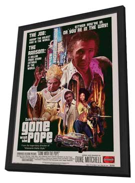 Gone with the Pope - 27 x 40 Movie Poster - Style A - in Deluxe Wood Frame