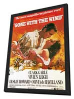 Gone with the Wind - 11 x 17 Movie Poster - Style H - in Deluxe Wood Frame