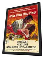 Gone with the Wind - 11 x 17 Movie Poster - Style A - in Deluxe Wood Frame