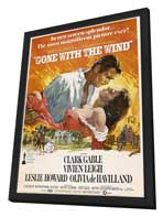 Gone with the Wind - 11 x 17 Poster - Style AF - in Deluxe Wood Frame