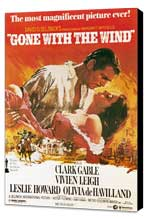Gone with the Wind - 11 x 17 Movie Poster - Style H - Museum Wrapped Canvas