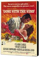Gone with the Wind - 11 x 17 Movie Poster - Style A - Museum Wrapped Canvas