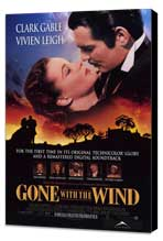 Gone with the Wind - 27 x 40 Movie Poster - Style A - Museum Wrapped Canvas