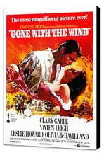 Gone with the Wind - 27 x 40 Movie Poster - Style B - Museum Wrapped Canvas