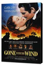 Gone with the Wind - 27 x 40 Movie Poster - Style S - Museum Wrapped Canvas