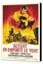 Gone with the Wind - 27 x 40 Movie Poster - French Style B - Museum Wrapped Canvas
