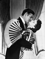 Gone with the Wind - Gone With The Wind Scarlett O'Hara and rhett butler Kissing Scene Black and White