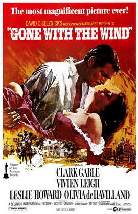 Gone with the Wind - 11 x 17 Movie Poster - Style H