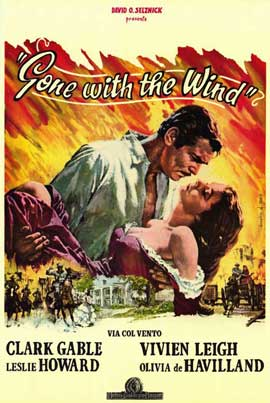 Gone with the Wind - 11 x 17 Poster - Foreign - Style B