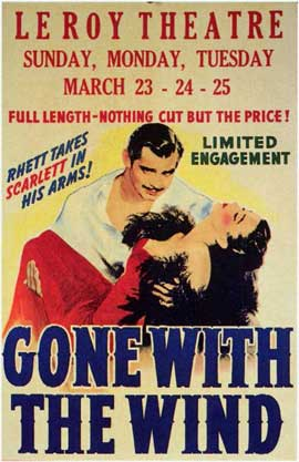 Gone with the Wind - 11 x 17 Movie Poster - Style J