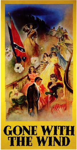 Gone with the Wind - 11 x 17 Movie Poster - Style K