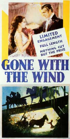 Gone with the Wind - 11 x 17 Movie Poster - Style N