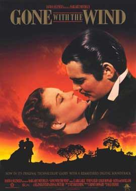 Gone with the Wind - 11 x 17 Movie Poster - Style B
