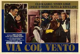 Gone with the Wind - 11 x 17 Movie Poster - Italian Style C