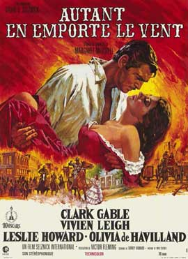 Gone with the Wind - 11 x 17 Movie Poster - French Style A
