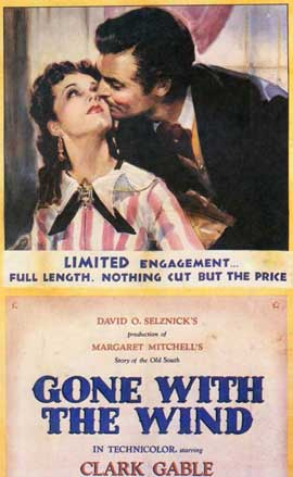 Gone with the Wind - 11 x 17 Movie Poster - Style P