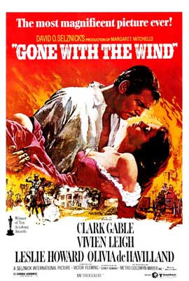 Gone with the Wind - 27 x 40 Movie Poster - Style B