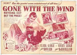 Gone with the Wind - 27 x 40 Movie Poster - Style C