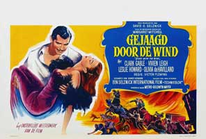 Gone with the Wind - 11 x 17 Movie Poster - Belgian Style A