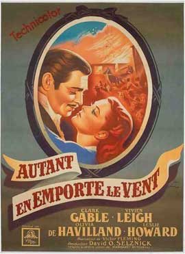 Gone with the Wind - 11 x 17 Movie Poster - French Style B