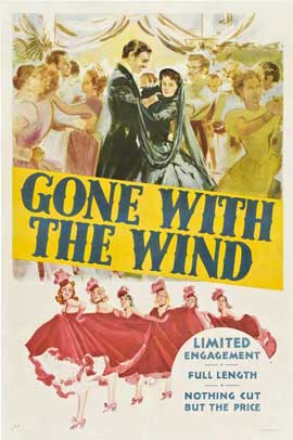 Gone with the Wind - 11 x 17 Movie Poster - Style V