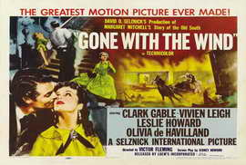 Gone with the Wind - 27 x 40 Movie Poster - Style F