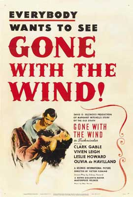 Gone with the Wind - 27 x 40 Movie Poster - Style G