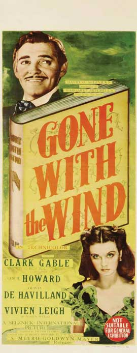 Gone with the Wind - 14 x 36 Movie Poster - Insert Style B