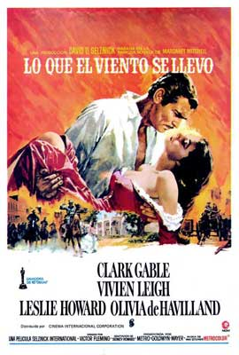 Gone with the Wind - 27 x 40 Movie Poster - Spanish Style A