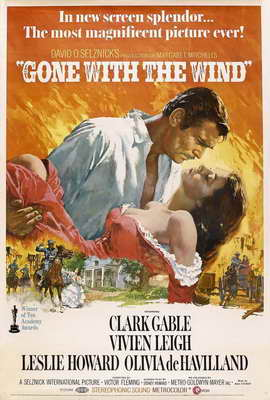 Gone with the Wind - 27 x 40 Movie Poster - Style N