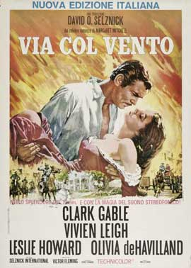 Gone with the Wind - 11 x 17 Movie Poster - Italian Style D