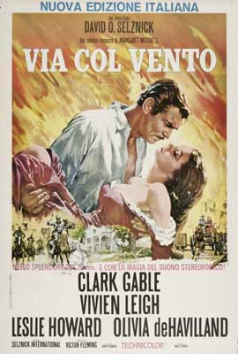 Gone with the Wind - 27 x 40 Movie Poster - Italian Style A