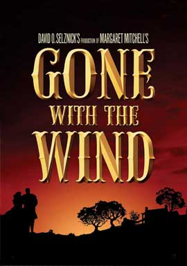 Gone with the Wind - 11 x 17 Poster - Style AH