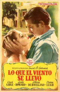 Gone with the Wind - 27 x 40 Movie Poster - Spanish Style B