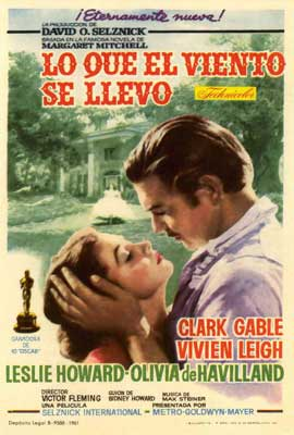 Gone with the Wind - 27 x 40 Movie Poster - Spanish Style C