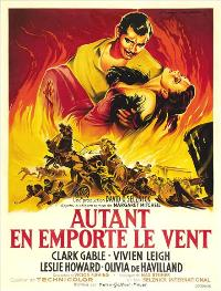 Gone with the Wind - 27 x 40 Movie Poster - French Style B