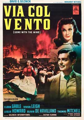 Gone with the Wind - 11 x 17 Movie Poster - Italian Style E