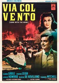 Gone with the Wind - 27 x 40 Movie Poster - Italian Style B