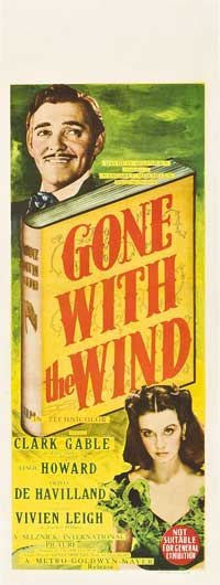 Gone with the Wind - 13 x 30 Movie Poster - Australian Style B
